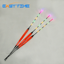 Easy Time 3pcs/Lot Fishing Floats 5 Full Luminous Electric Fish Floats Orange Fishing Bobber Fish Tacke