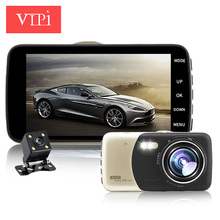 4.0 inch IPS dual lens car camera auto dvr camcorder cars dvrs carcam dash cam full hd 1080p parking recorder video registrator(China)