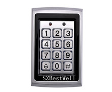 Metal RFID Reader 125kHz Proximity Door Access Control Keypad 7612 Support 1000 Users Electric Digital Password Door Lock