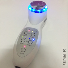 Fast Shipping Ultrasound Photon LED Anti Aging Skin Care Therapy Facial Massager Device
