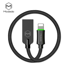 Mcdodo Lightnin Cable for Apple iPhone 5 6 6s 7 Plus Auto Disconnect Safe Fast Charging USB Charger Cables for ISO 10 9 with LED