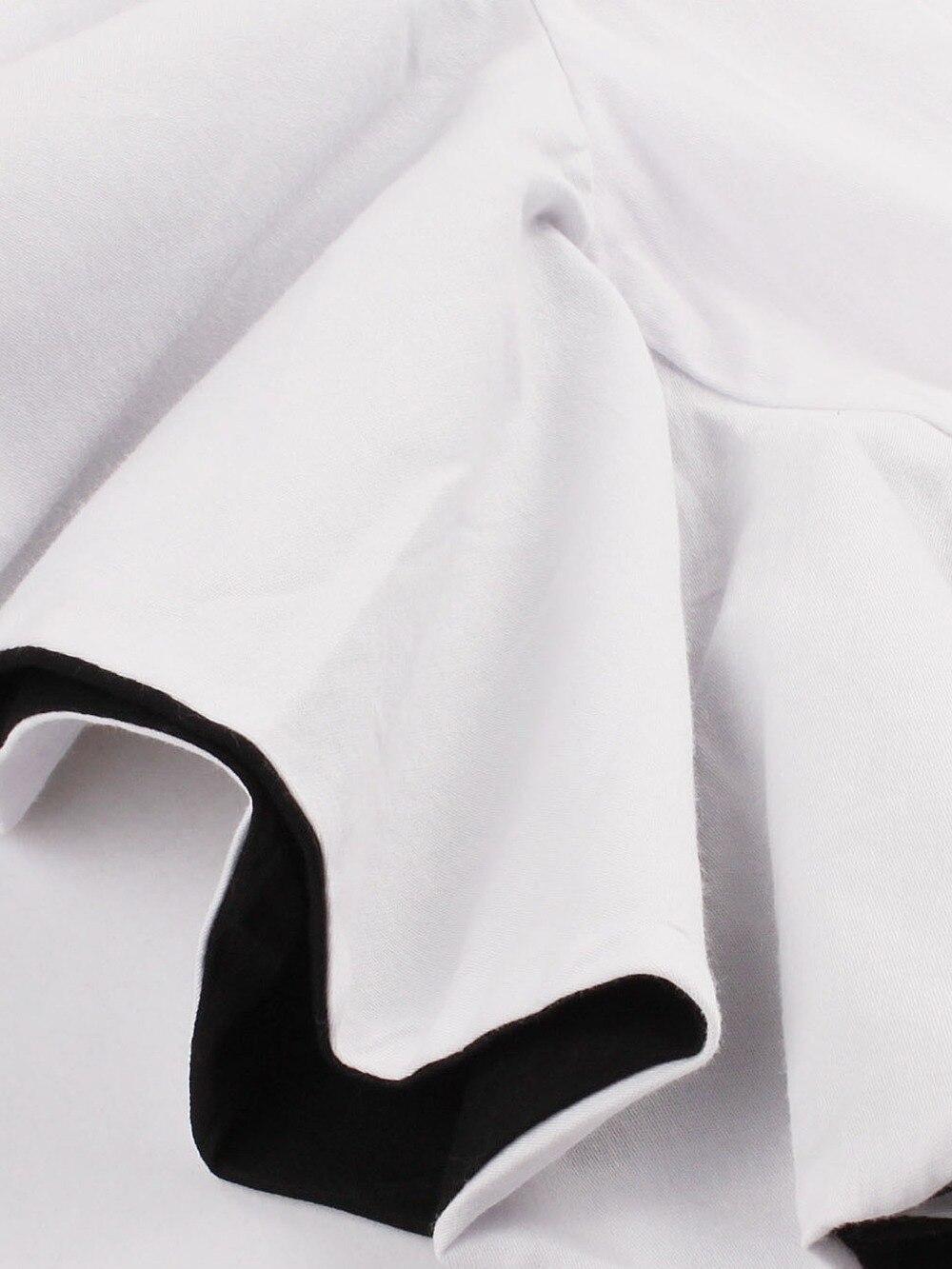 Modstreets Women Summer Dress Slash-Neck White Bodycon Butterfly Sleeve Knee-Length Sheath Solid Cotton Regular Female Dress