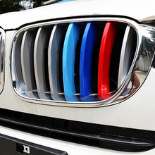 3Pcs For BMW X3 X4 F25 F26 2010 2011 2012 2013 2014 2015 2016 Car Styling Front Grille Cover Decoration Trim Strips ABS 3 Colors