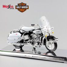 1/18 Scale kids Harley 1966 FLH Electra Glide Diecast metal model motorcycle Cruiser mini moto race Collectible car toys for boy