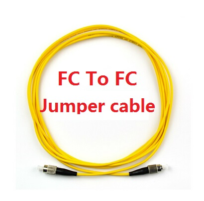 10PCS/Lot 3M 10ft FC to FC Yellow Fiber Patch Cord Jumper Cable SM Simplex Single Mode Optic for Network<br>