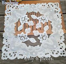 HOT beads table place mat cloth embroidery pad cup mug holder Organza coaster placemat doily Christmas wedding kitchen decor(China)