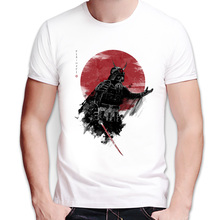 Hot Newest Modal men's fashion short sleeve Samurai Warrior t-shirt Harajuku funny tee shirts Hipster O-neck cool tops Clothes