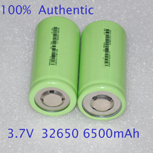 30%OFF 2PCS UNITEK 3.7v ICR 32650 li-ion battery 6500mah rechargeable lithium ion cell for led flashlight torch and battery pack