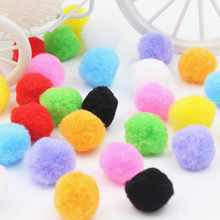 25mm 50PCS/SET Christmas hat decoration Children's educational toys Manual materials wholesale Multicolor wool ball
