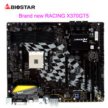 BIOSTAR New Motherboard X370GT5 For Ryzen AMD 1700 1600 ATX Racing Computer Mainboard DDR4 3200 2933 64G Support HDMI 4K Resolut