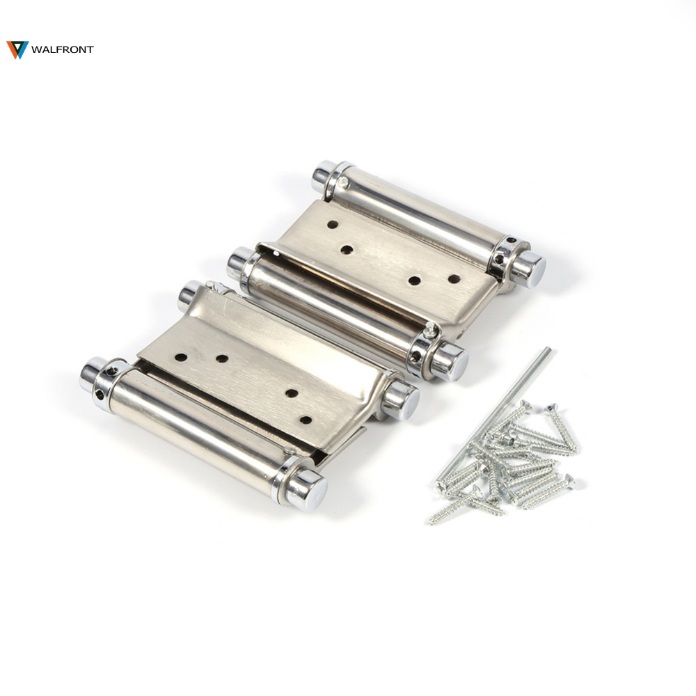 2Pcs/set 3 Inch Double Door Hinge Cabinet Drawer Butt Hinge Door Swing Stainless Steel Hinges With Screws Hand Tools Hardwar(China (Mainland))