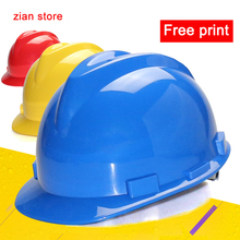 Safety helmet Classic V impact resistance anti impact 5 colors optional factory transport mine free printing(China)