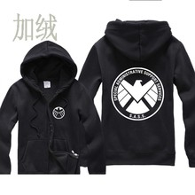 Carter Agents LOGO of S.H.I.E.L.D. S.A.S.S. SPECIAL ADMINISTRATIVE SUPPORT SERVICES Casual man cotton full zip hoodies(China)