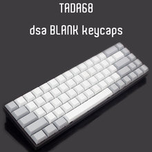 blank DSA keycaps for tada68/gh60/poker mx mechanical keyboard pbt caps