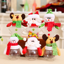 Hot Sale Christmas Candy Cans Christmas Decorations Five-Pointed Star Round Party Decoration(China)