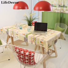 Fine day series happy time big polka dot green tablecloth coffee table dining table cloth customize