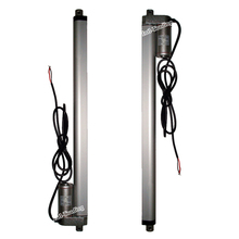A Pair of 12V DC 400mm/16Inches Stroke Mini Electric Linear Actuator Tubular Motor Motion 14mm/sec speed 1000N=100KG Load