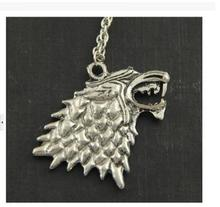 The song of ice and fire Game of Thrones - Stark Wolf Necklace silver tone 0079
