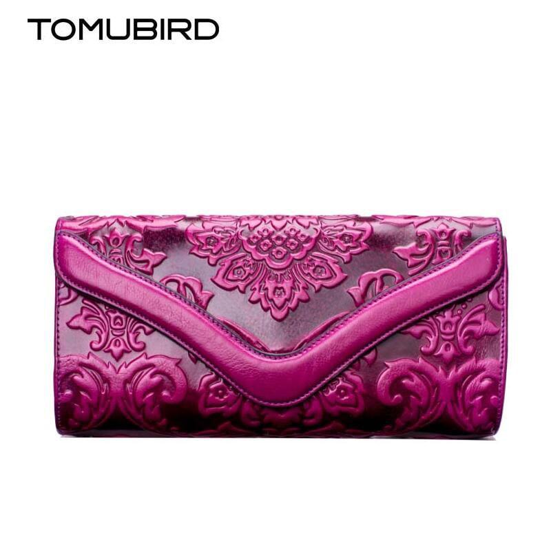 TOMUBIRD 2017 new Designer embossed evening cluches handbags Hand embossed fashion luxury women genuine leather handbags<br><br>Aliexpress