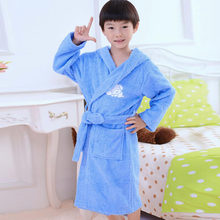 150c7d10ba Free shipping 2016 Fashion Boys Girls Toweling Robe Children s Coral Velvet Bathrobes  Dressing Gown Kids Peignoir enfant