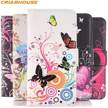 for SONY Xperia z z1 z2 z3 z4 z5 Compact mini M2 M4 M5 E3 E4 E4G C3 C4 T3 pu leather phone case butterfly pattern Flip Wallet