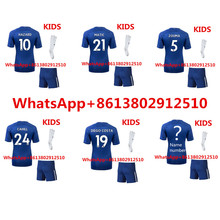 New 2017 2018 chelseas kids football kits jerseys shorts + socks kids soccer jerseys(China)