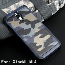 2 in1 Army Camo Camouflage Pattern PC+TPU Armor Anti-knock Protective Back Cover Case For Xiaomi Mi4 Xiaomi Mi 4 Phone Cases