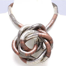 Manufacture 5mm 90cm Silver&Copper&Black Mixed Plated Iron Bendable Flexible Bendy Snake Necklace,10pcs/pack(China)