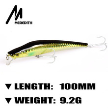 Meredith Lures Fishing 1pcs 9.2g 100mm Floating Minnow Hard Artigicial Bait Bay Master Lures wobblers Hooks Carp Fishing(China)