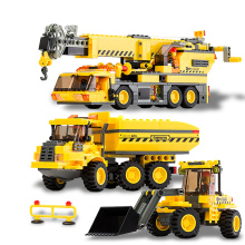 612pcs Truck Car 3 In 1 Model City cars Building Block Sets Engineering Construction crane DIY Enlighten toy gifts(China)