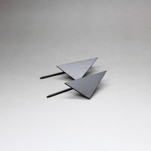 Simple ornament factory wholesale new high-end copper casting delicate beautiful geometric triangle stud earrings(China)