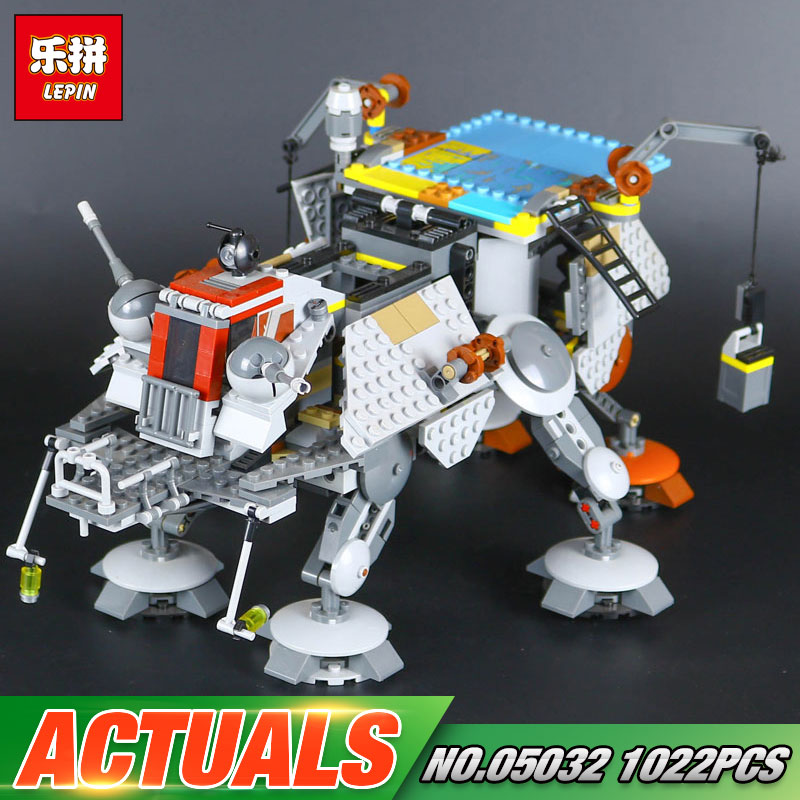 Free Shipping 1022pcs 2017 New LEPIN 05032 Genuine Star Series The Captain Rexs AT-TE Building Blocks Brick Toy with 75157 War<br>