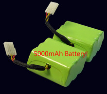 Best X2 7.2v 5000mAh battery pack for Neato XV-21 XV-11 XV-14 XV-15 robot vacuum cleaner parts neato xv battery signature pro