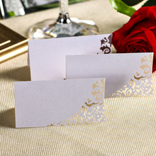 12PCS Wholesale Laser Cut Wedding Decorative Place Name Card Table High Quality Paper Vine Seat Cards for Party Favor