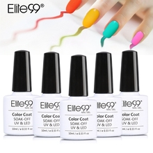 Elite99 10ml Soak Off Macaron Color Gel Nail Polish Long Lasting Nail Art Gelpolish Gel Lacquer Varnish All 20 Gorgeous Colors(China)