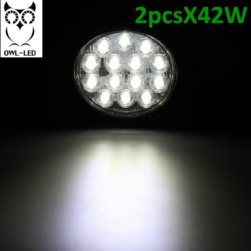 Round design spot beam 2PCS IP67 waterproof Spot Beam Offroad truck 4x4 led driving light 48w led work light <br>