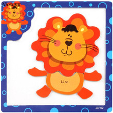 Niosung Cute Wooden Magnetic Puzzle Educational Developmental Baby Kids Training Toy Learning& Educational Gift(China)