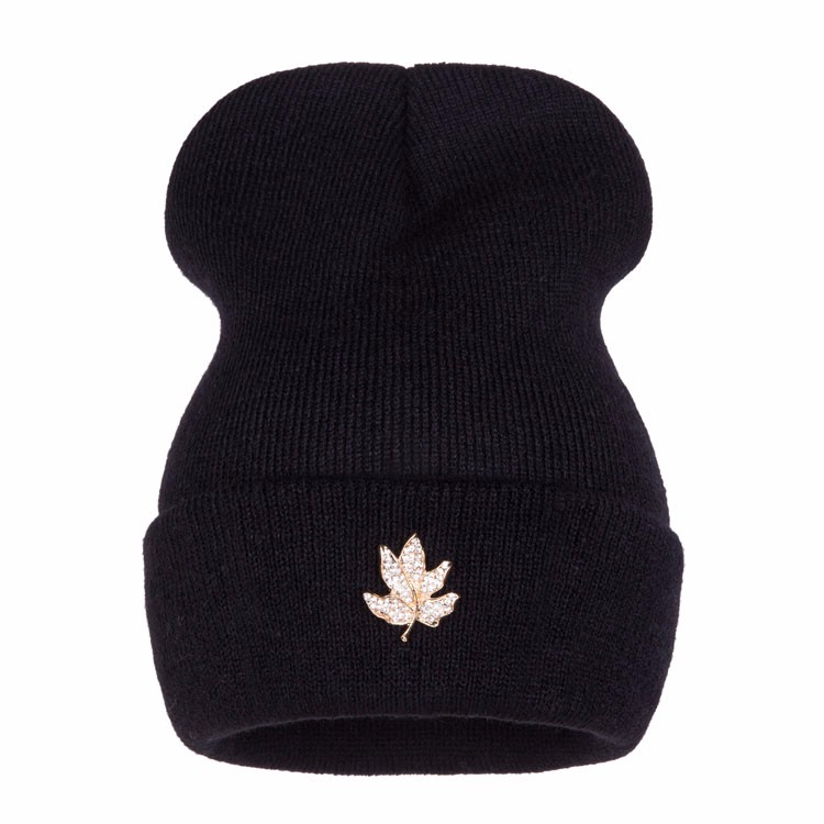 Ralferty Casual Crystal Leaf Beanie Winter Hats For Women Skullies Caps Female Chapeu Toca bonne gorras bonnet Cap Men Snowboard 3