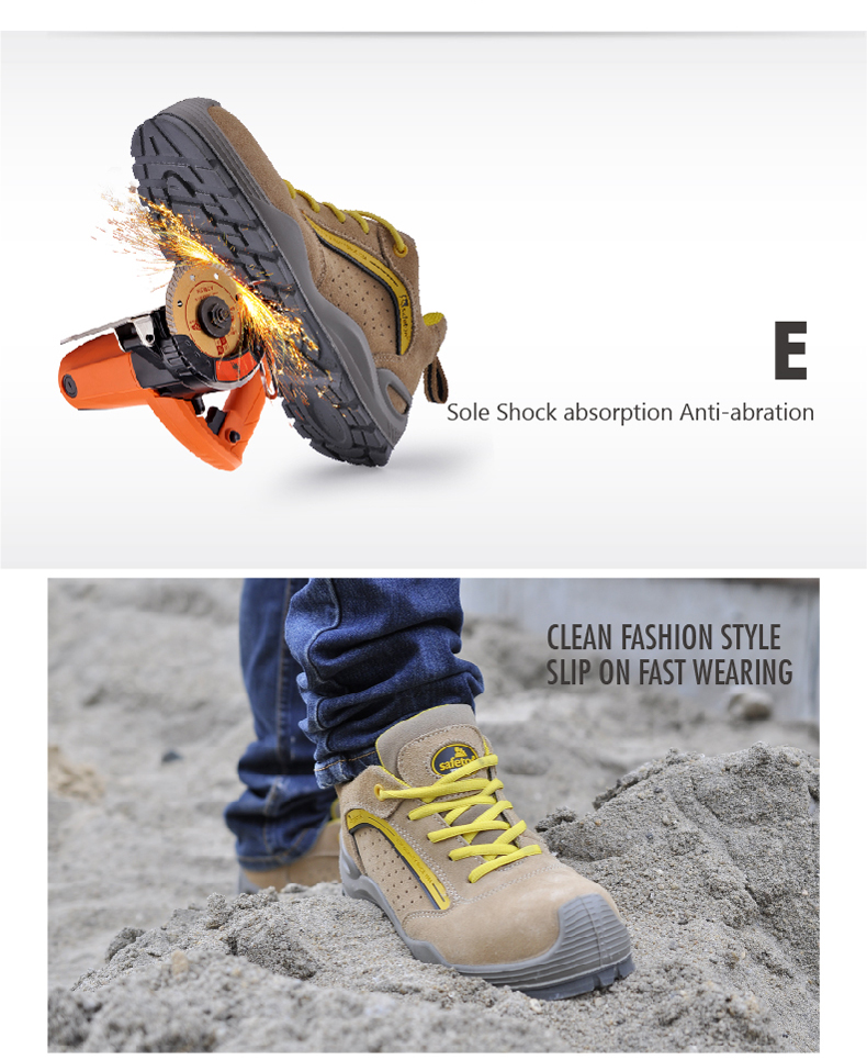 Safetoe Safety Shoes Mens Work Boots Safety Shoes Steel Toe Work Boots Fashion Leather Shoes Working Safety Boots Size US 4-13 4