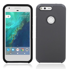 Dual Layer TPU+PC Hybrid Shockproof Slim Armor Case Hard Shockproof Silicone Cover With Films Stylus For Google Pixel XL @
