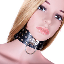 Buy Black Fetish Pu Leather Collar Harness Neck Strap Adjustable Belt Slave Fantasy Bondage Sm Sex Product Adult Sex Toy Lover