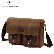 HOT! Brand New Retro Fashion High Quality Canvas Leisure Student Bag Shoulder School Book Bags Men Messenger Bag Manufacturers(China)