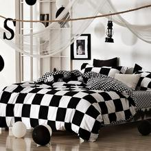 2016 Hot Classical Black White Bedding Sets Printing Duvet Quilt Cover Set Bedroom Bedding Contains Quilt Cover and pillowcase(China)