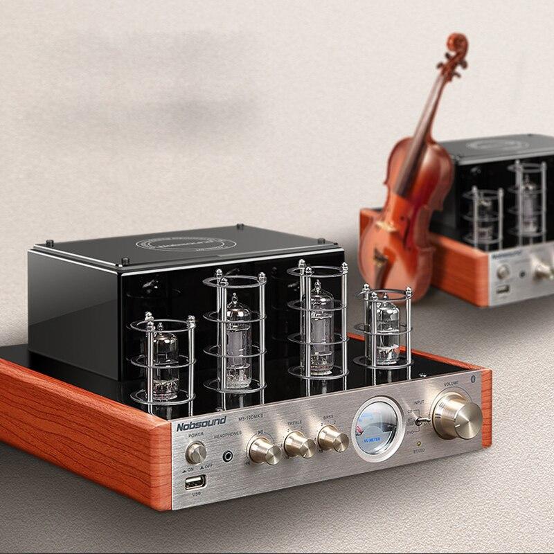 Nobsound MS-10D MKII USB Hifi 6P1 6N1 tube amplifier Bluetooth 3.0 amplifier Audio headphone amp USB lossless music Play 25W*2