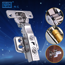 NRH8901-304-T-B 304 stainless steel damping hinge cabinet hydraulic buffering hinge door hinge bending bend in the closet