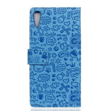 For HTC Desire 830 cartoon pu leather case funda,for HTC 830 magic girl pu leather stand cover guard shell HTC830 Bag(China)
