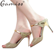 Gamiss High Heels Women Sandals Ankle Strap Peep Toe Summer Lady Wedding Shoes Thin High-Heeled Platform Gladiator Women Sandals