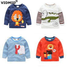 1-6Y new arrival boys t-shirt baby boy t shirt children blouse clothing for boys autumn spring long sleeve shirts jackets