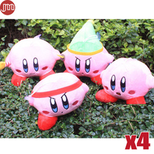 New 4pcs Kirby Plush Doll 4 Styles Super Mario STAR Key Ring Keychains Popopo Pendant 10-22cm Christmas Gift Kid Toy