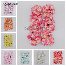 72Pcs/lot 3.5cm Colorful Artificial Roses Paper Flower Home Garden Decorative DIY Wreaths Supplies Wedding Party Decoration 9Z